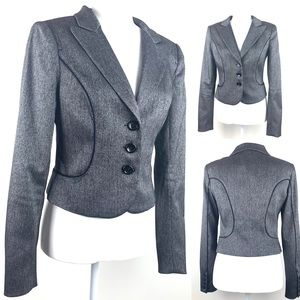 Bebe Grey Jacket Blazer Suite Size 6